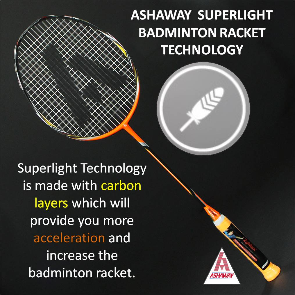 Ashaway superlight Badminton Racket Technology