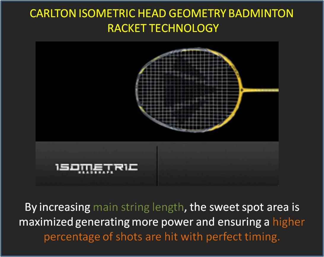 Carlton Isometric Head Geoametry Badminton Racket Technology