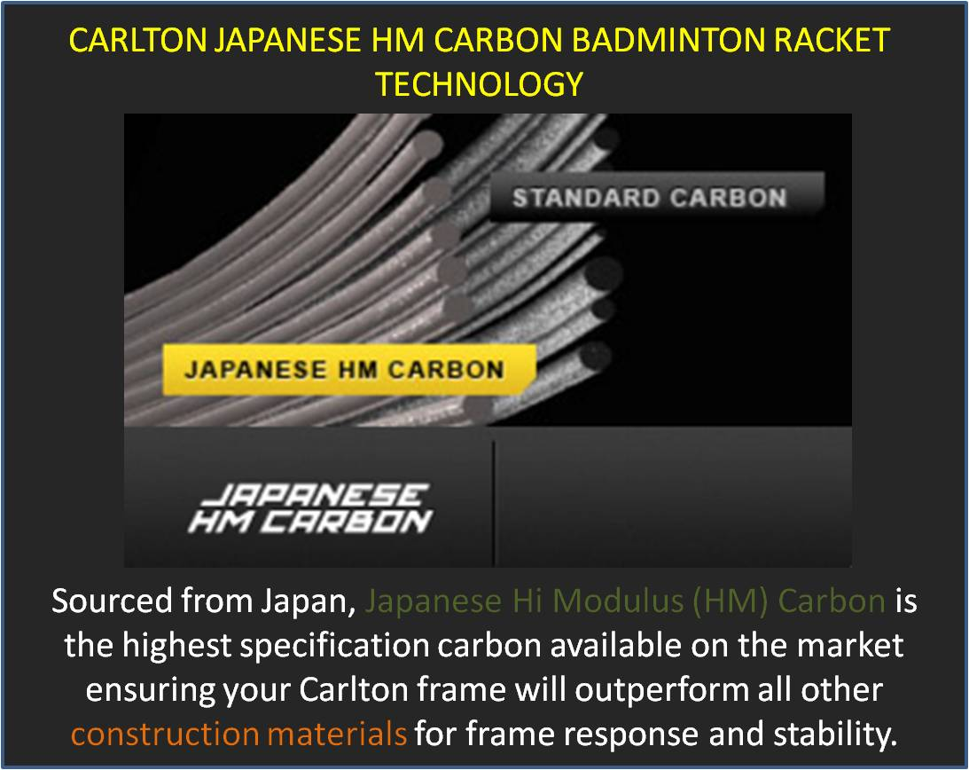 Carlton Japanese HM Carbon Badminton Racket Technology