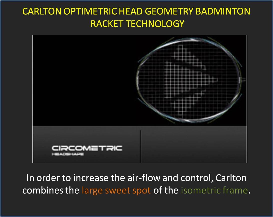 Carlton Optimetric Head Geoametry Badminton Racket-Technology