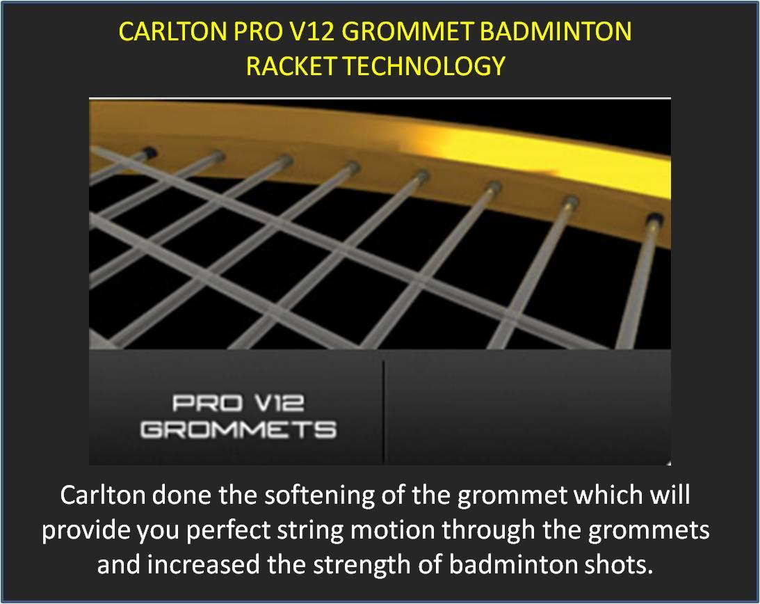 Carlton Pro V12 Badminton Racket Technology