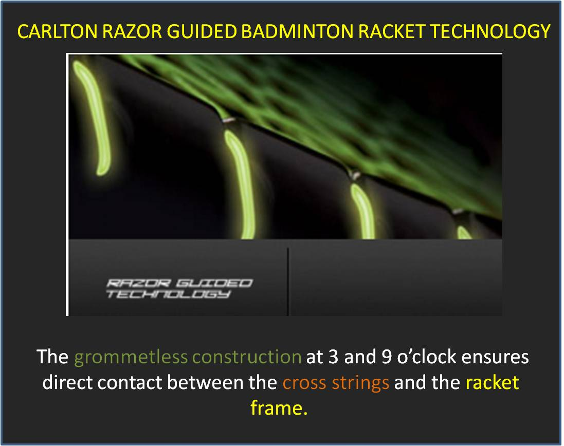 Carlton Razor Guided Badminton Racket Technology