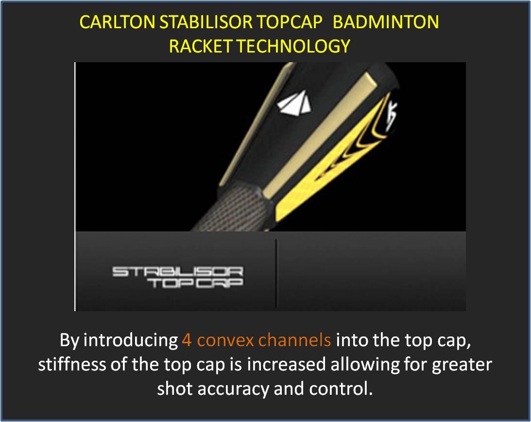 Carlton Stabilisor Top Cap Badminton Racket Technology
