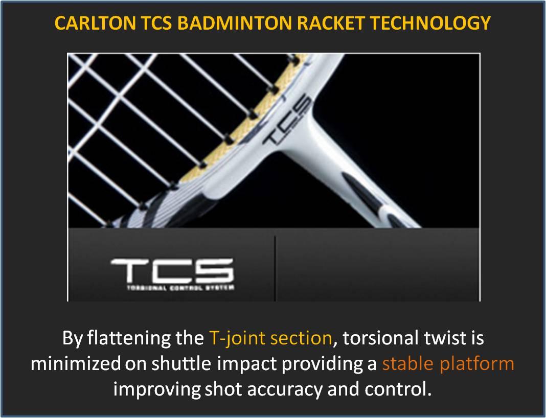 Carlton TCS Badminton Racket Technology