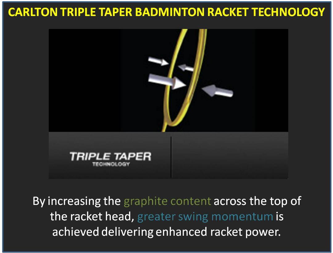 Carlton Triple Taper Badminton Racket Technology