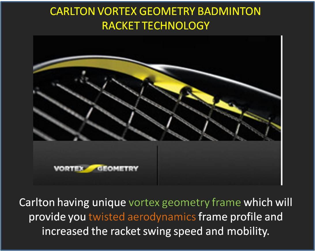 Carlton Vortex Geometry Badminton Racket Technology