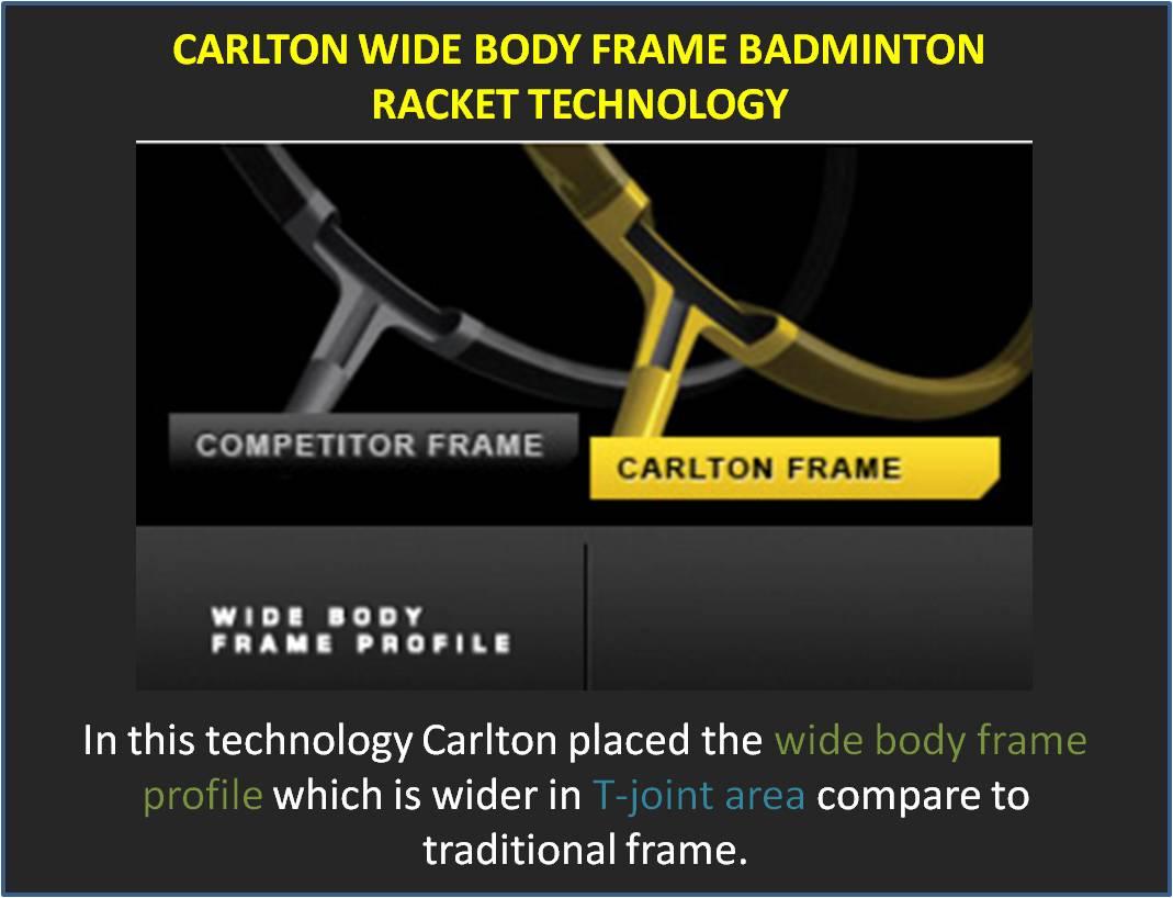 Carlton Wide Body Frame Badminton Racket Technology