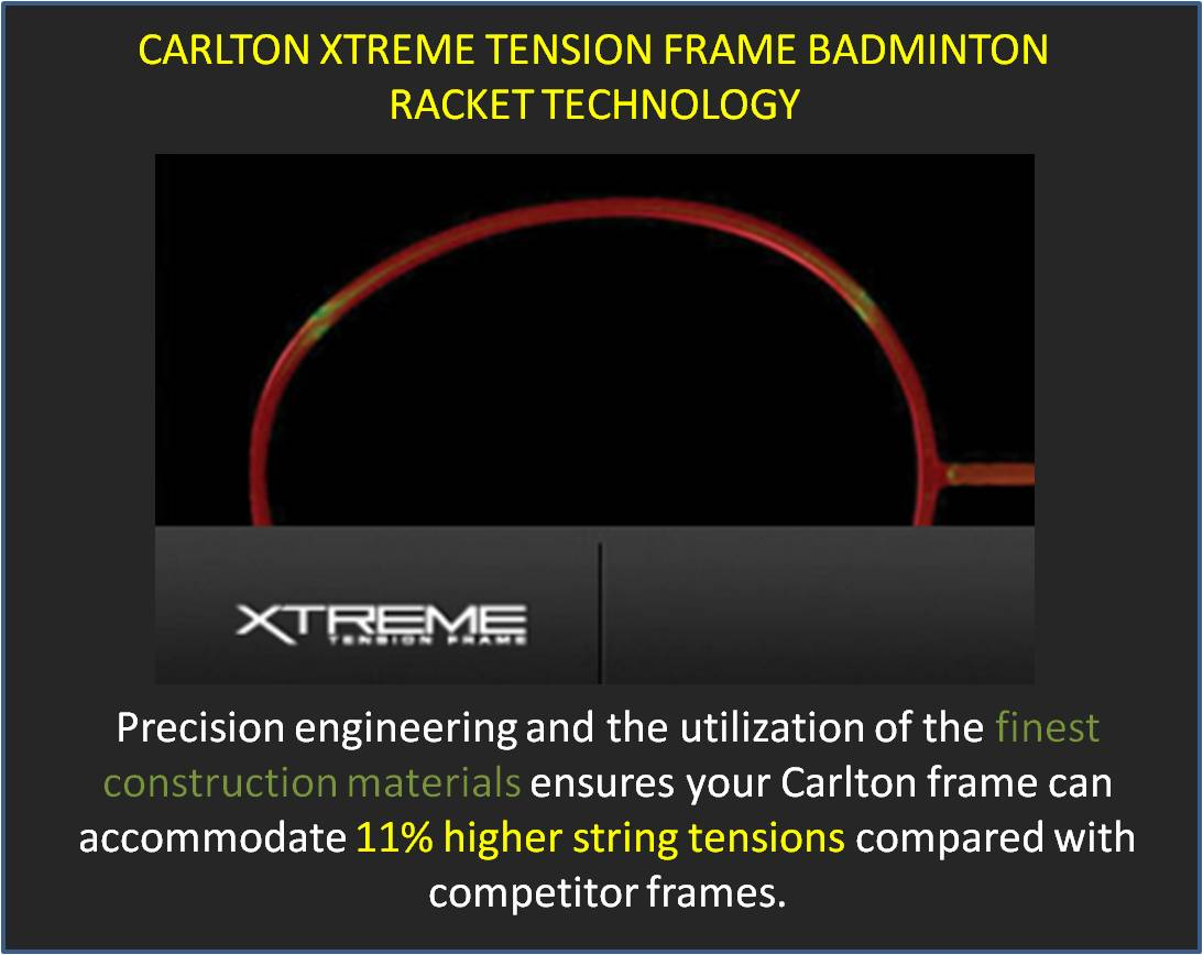 Carlton Xtreme Tension Frame Badminton Racket Technology