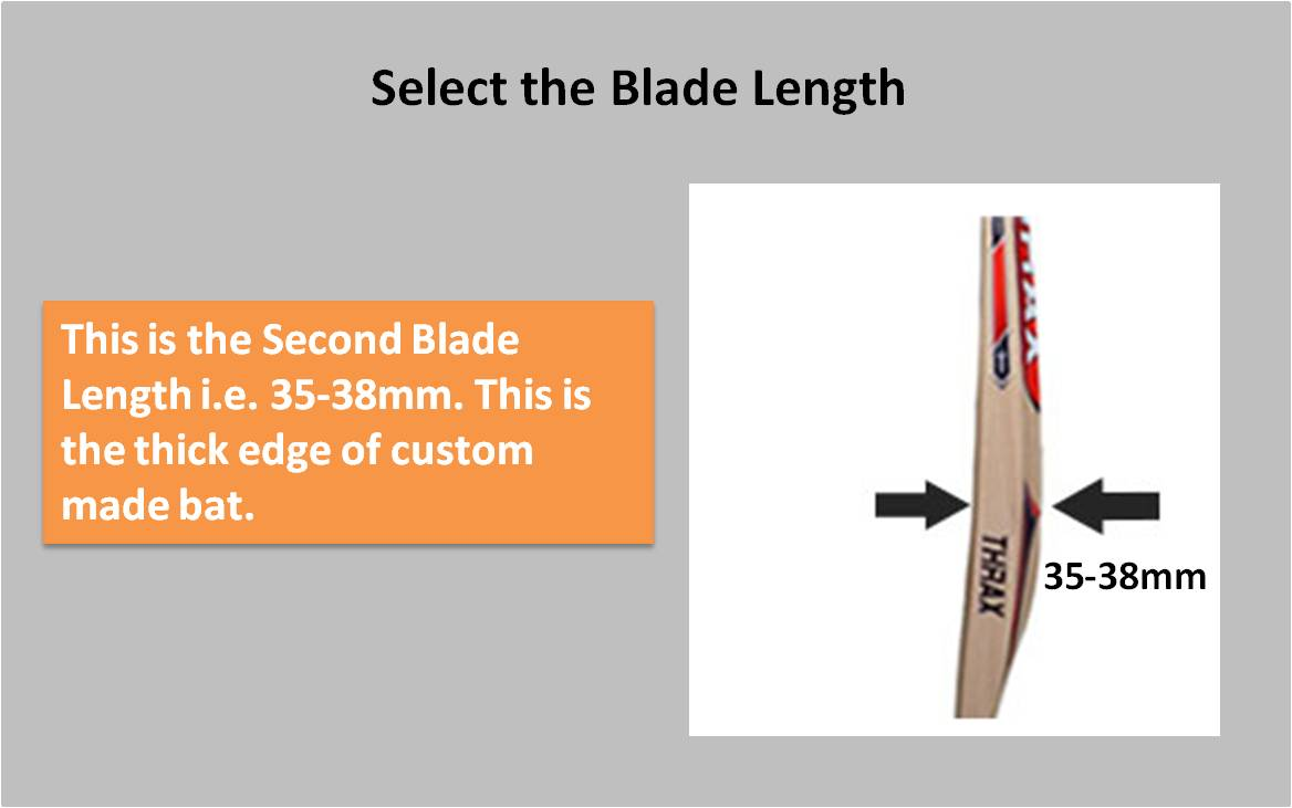Custom Made English willow Bat Blade Length2