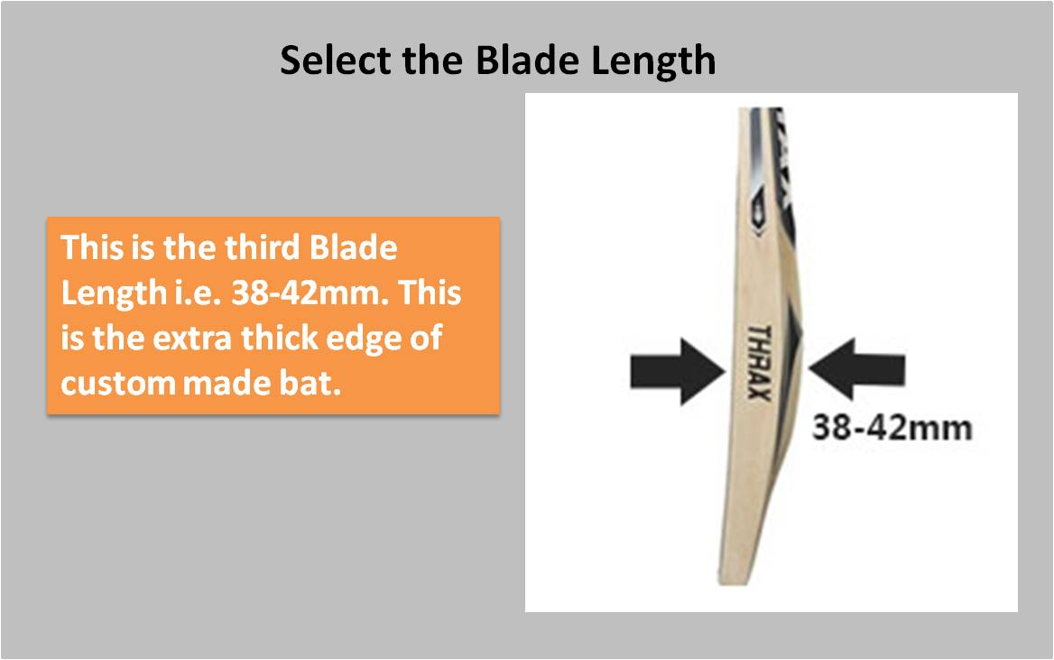 Custom Made English willow Bat Blade Length3