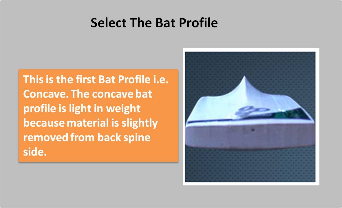 Custom Made-English willow Bat Concave