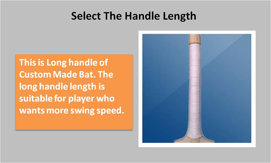 Custom Made English willow Bat Long Handle
