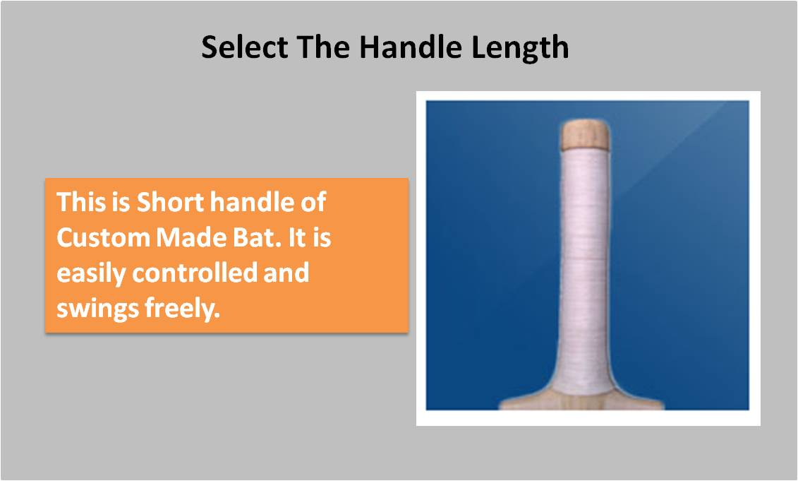 Custom Made English willow Bat Short Handle