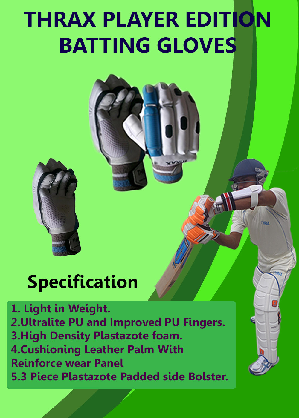 Thrax Player Edition Cricket Batting Gloves