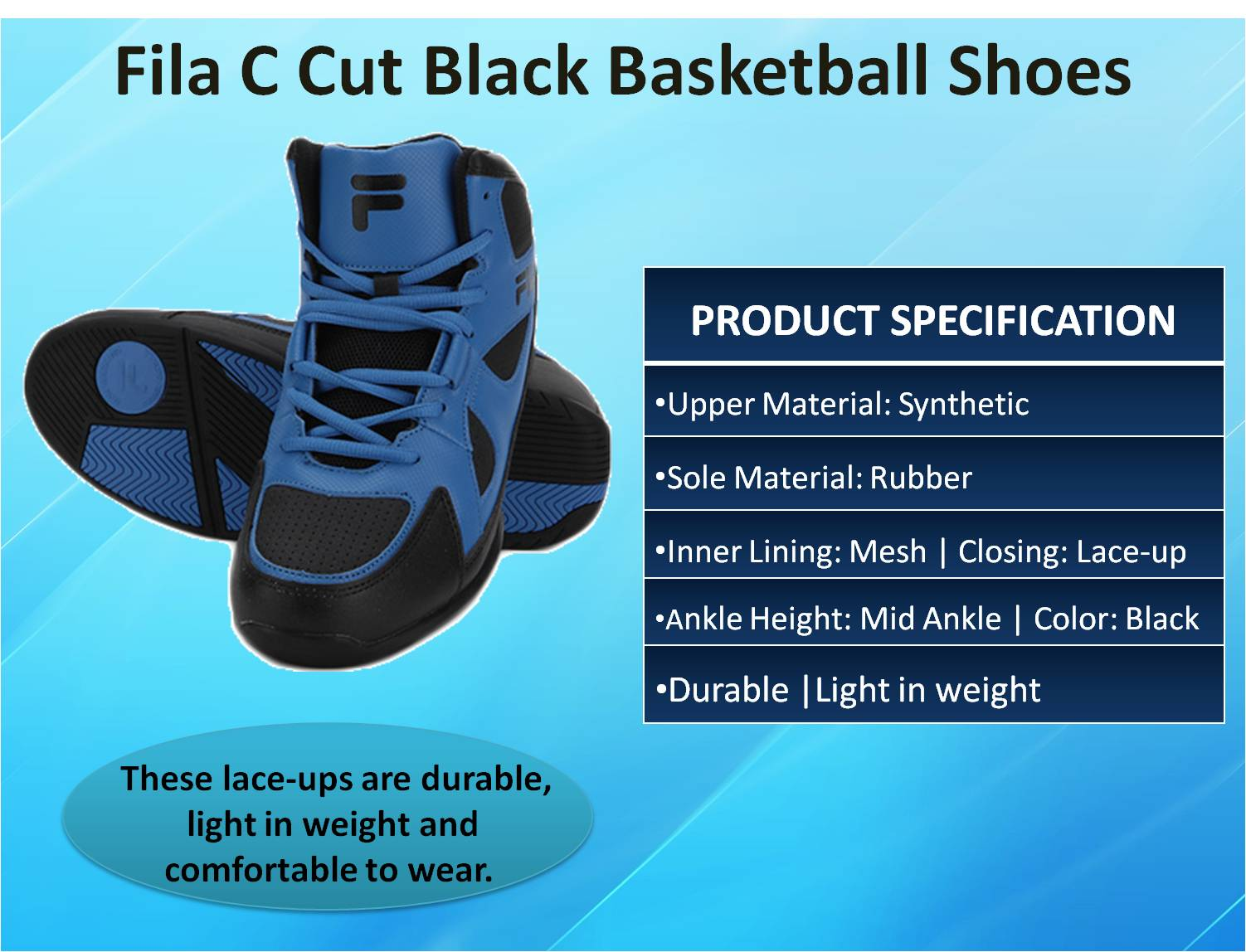 Fila C Cut Black Basketball Shoes