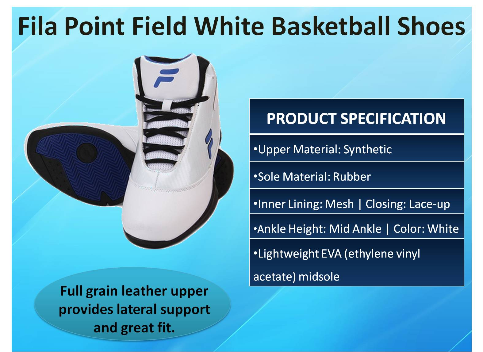 Fila Point Field White Basketball Shoes