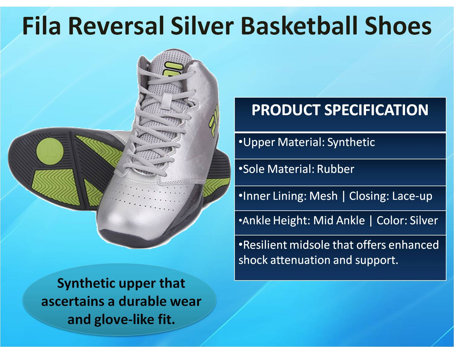 Fila Reversal Silver Basketball Shoes