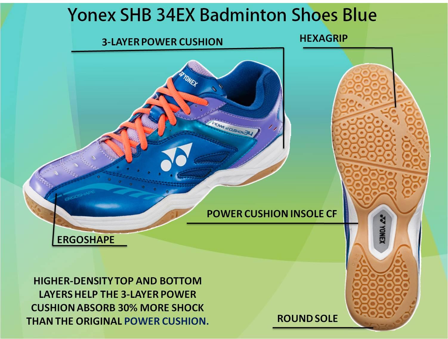 Yonex SHB 34 EX Badminton Shoes Blue