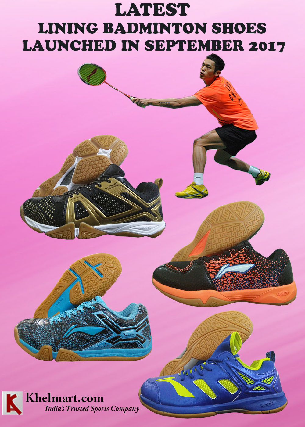 LATEST LINING BADMINTON SHOES LAUNCHED IN SEPTEMBER 2017