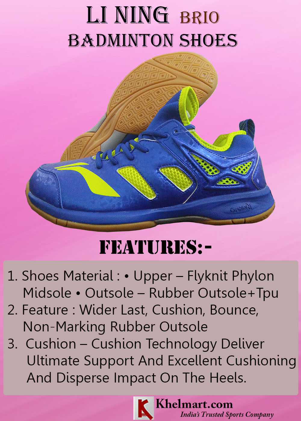 LI NING Brio Badminton Shoes