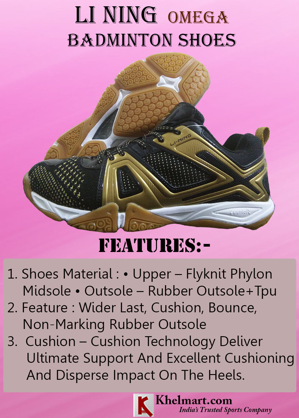 LI NING Omega Badminton Shoes