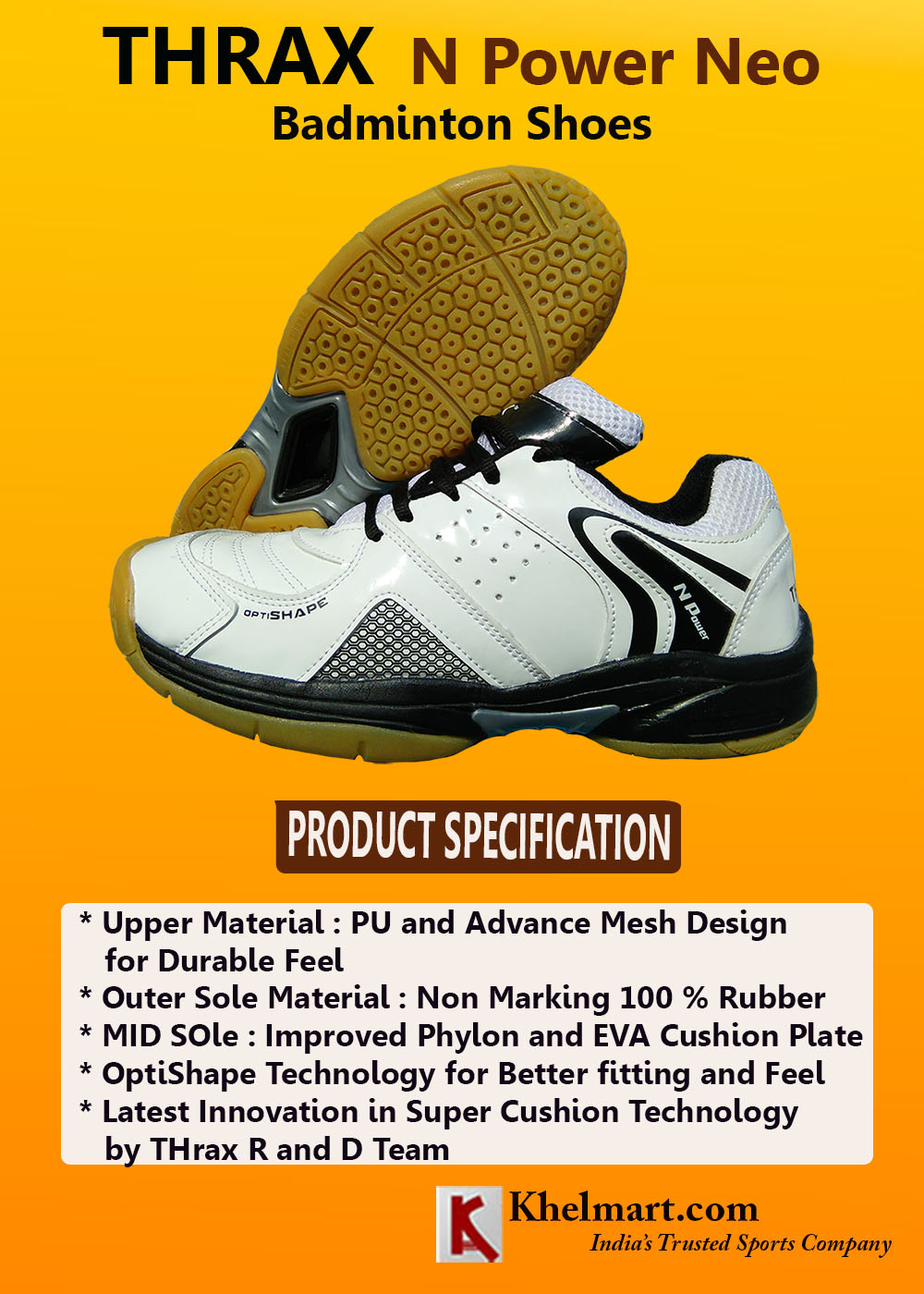 Thrax N Power Neo Badminton Shoe
