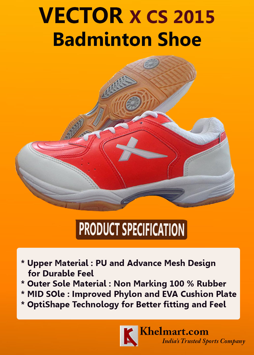 Vector X CS 2015 Badminton Shoes