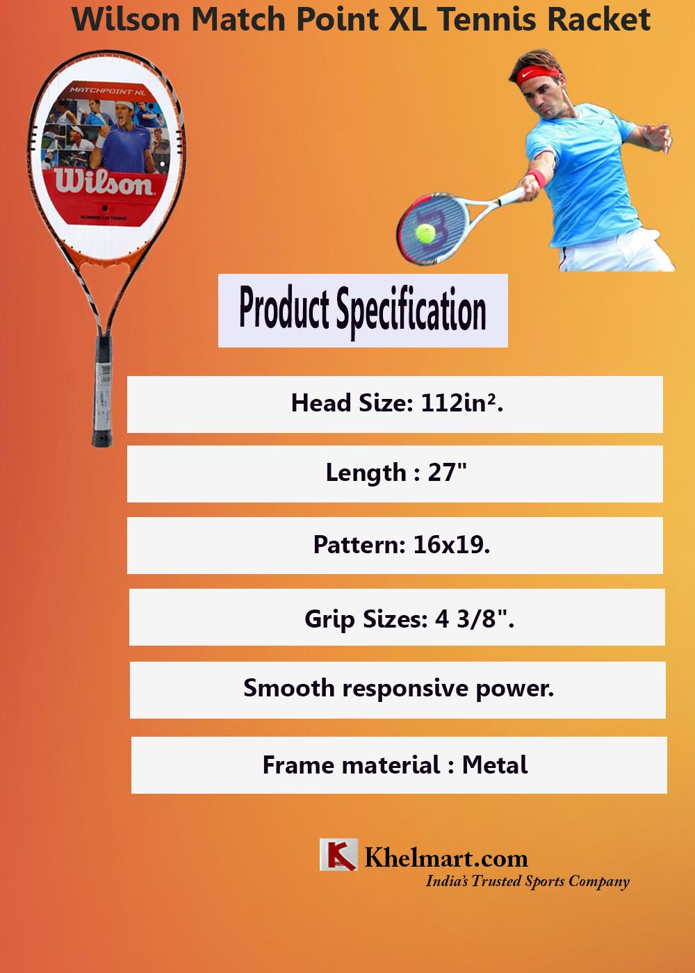 Wilson match point xl tennis racket