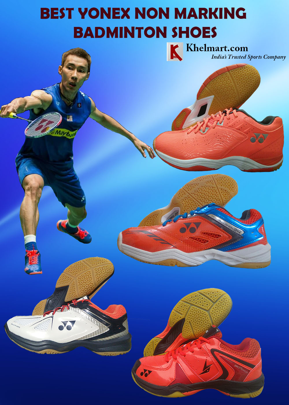 BEST YONEX NON MARKING BADMINTON SHOES