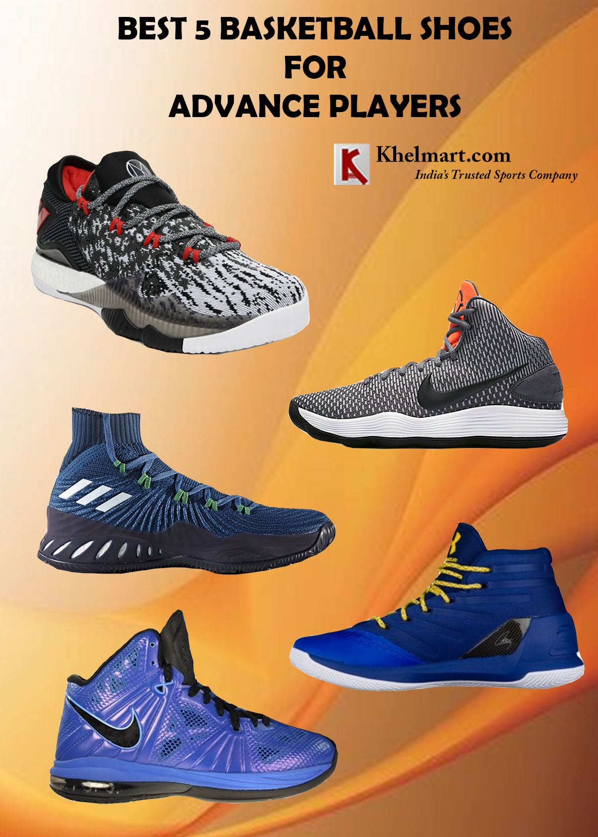 Best 5 Basketball Shoes For Advance Players