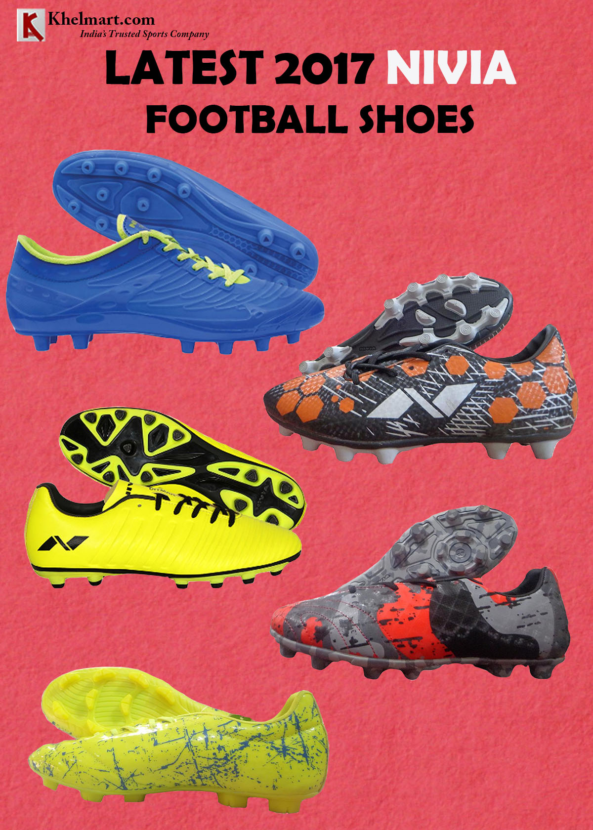 LATEST 2017 NIVIA FOOTBALL SHOES
