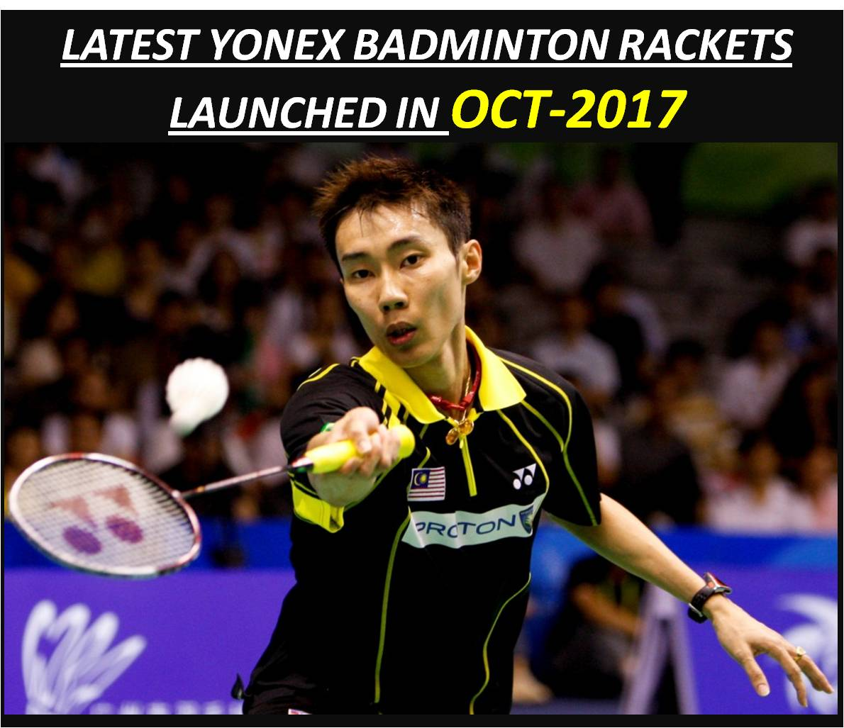 LATEST YONEX BADMINTON RACKET LAUNCHED IN OCT 2017