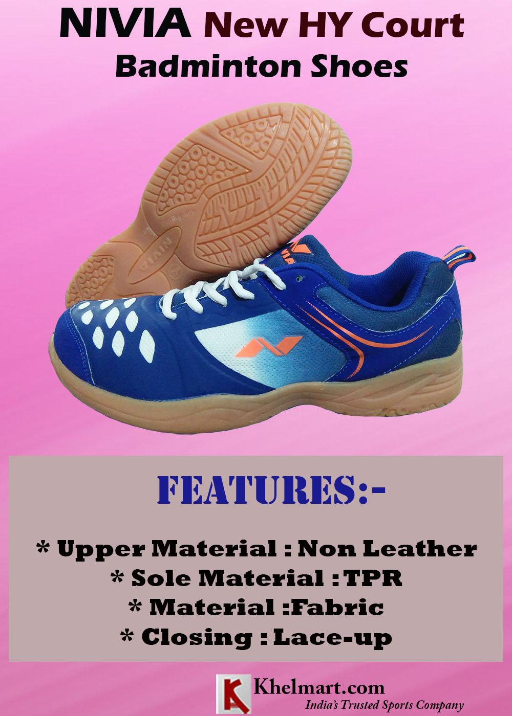 NIVIA New HY Court Badminton Shoes Blue