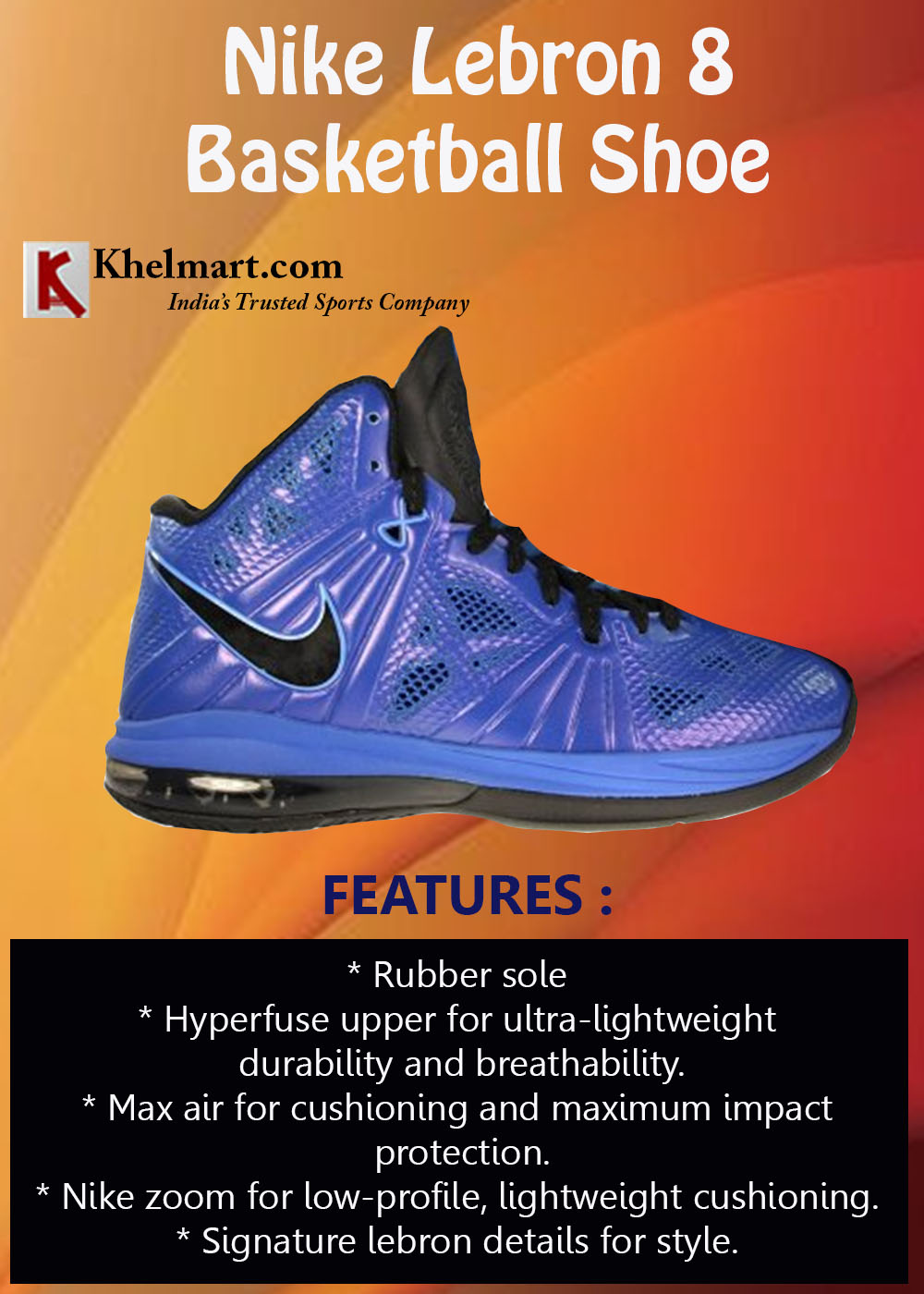 Nike Lebron 8 BasketBall Shoes