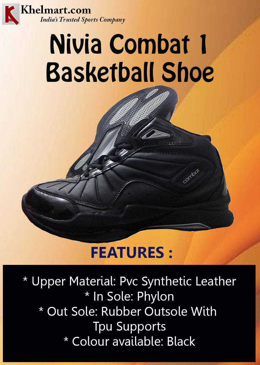 Nivia Combat 1 Basket Ball Shoe