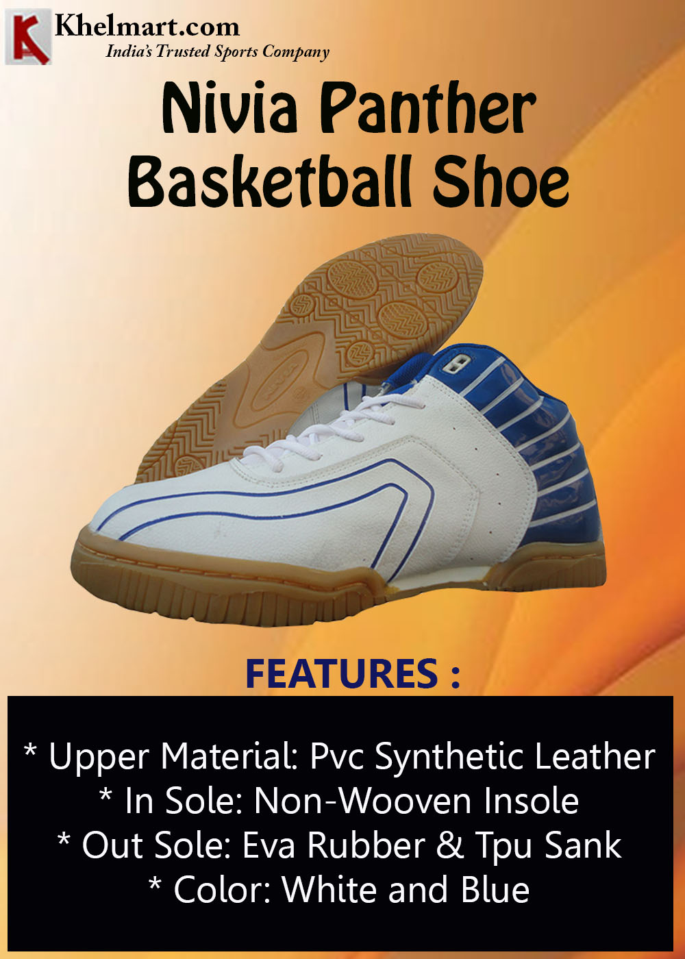Nivia Panther Basketball Shoe