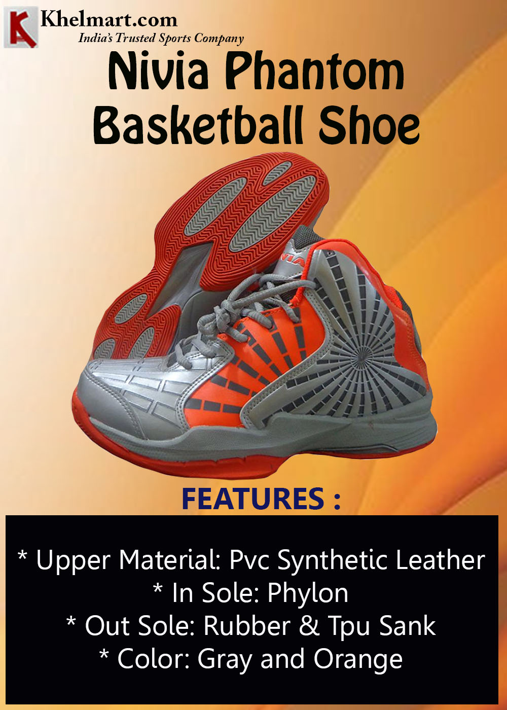 Nivia Phantom Basketball Shoe