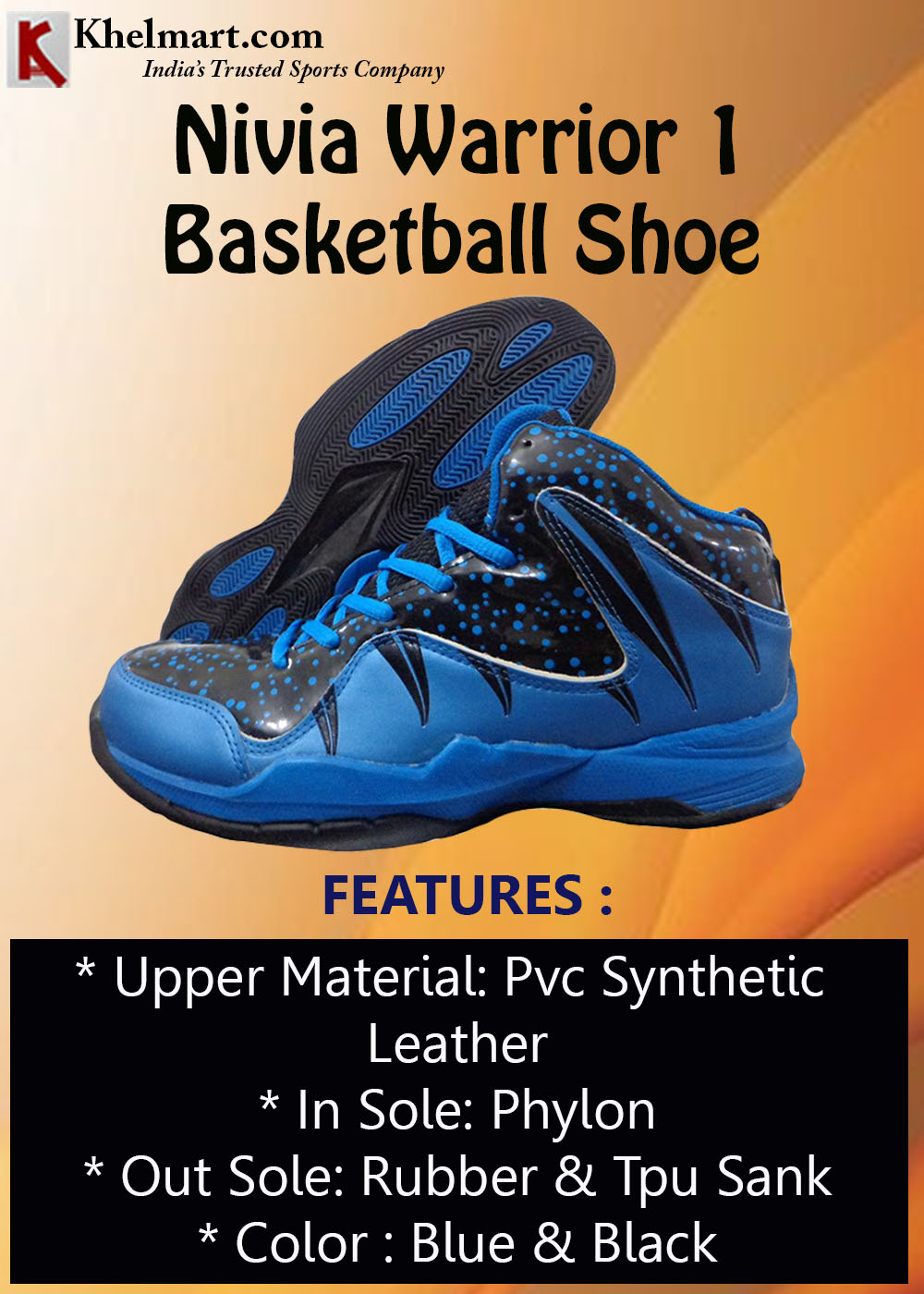 Nivia Warrior 1 Basketball Shoe