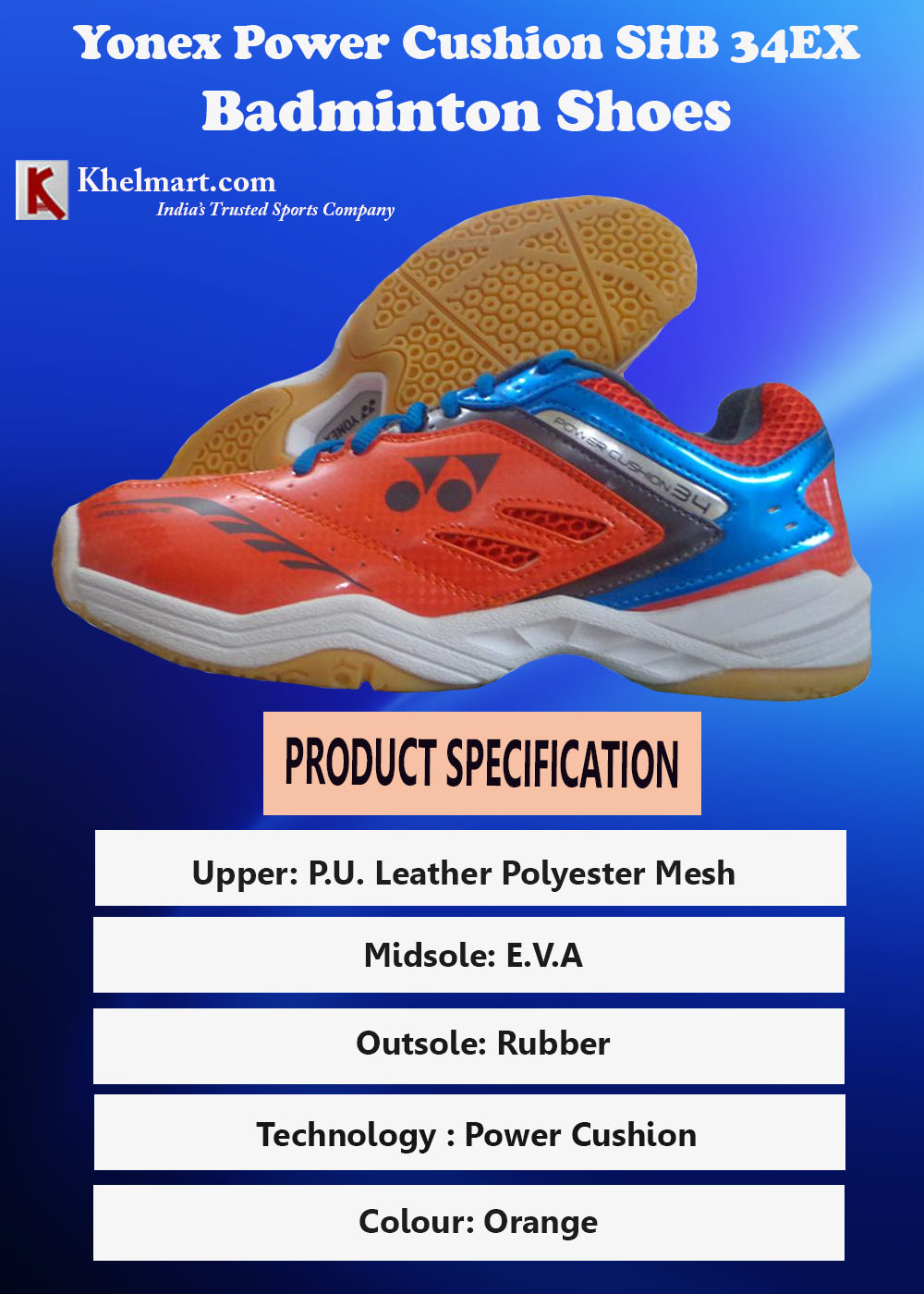 Yonex Power Cushion SHB 34EX Badminton Shoes