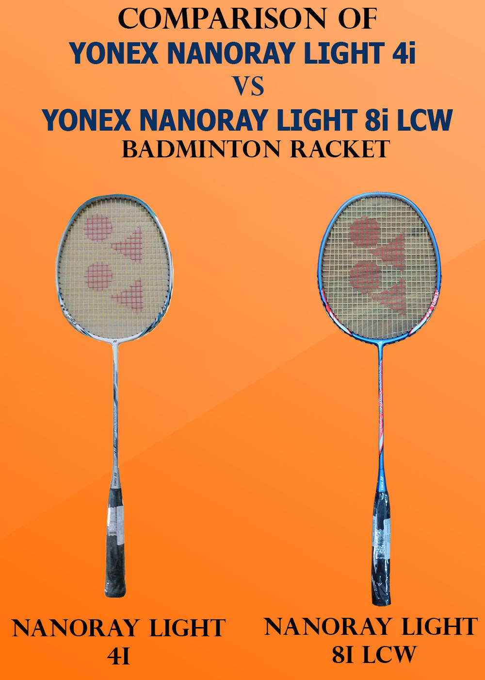 Comparison of Yonex Nanoray Light 4i VS Nanoray Light 8i_1