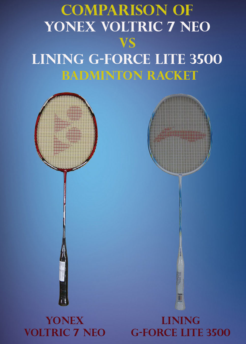 Comparison of Yonex Voltric 7 Neo VS Lining G Force 3500_1