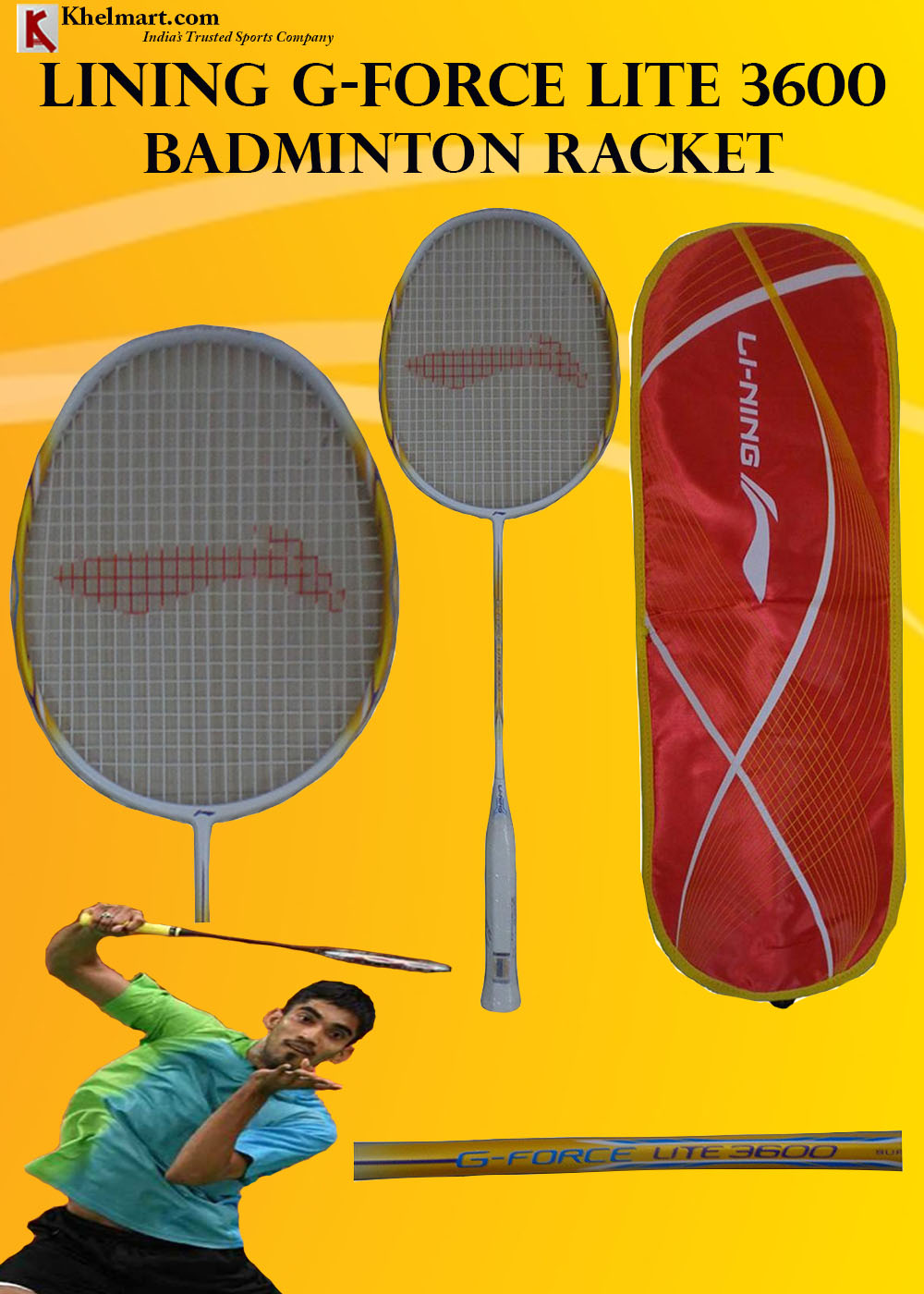 LiNing G Force Lite 3600 Badminton Racket