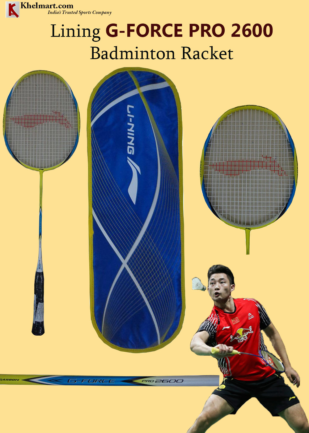 Lining G Force Pro 2600 Badminton Racket