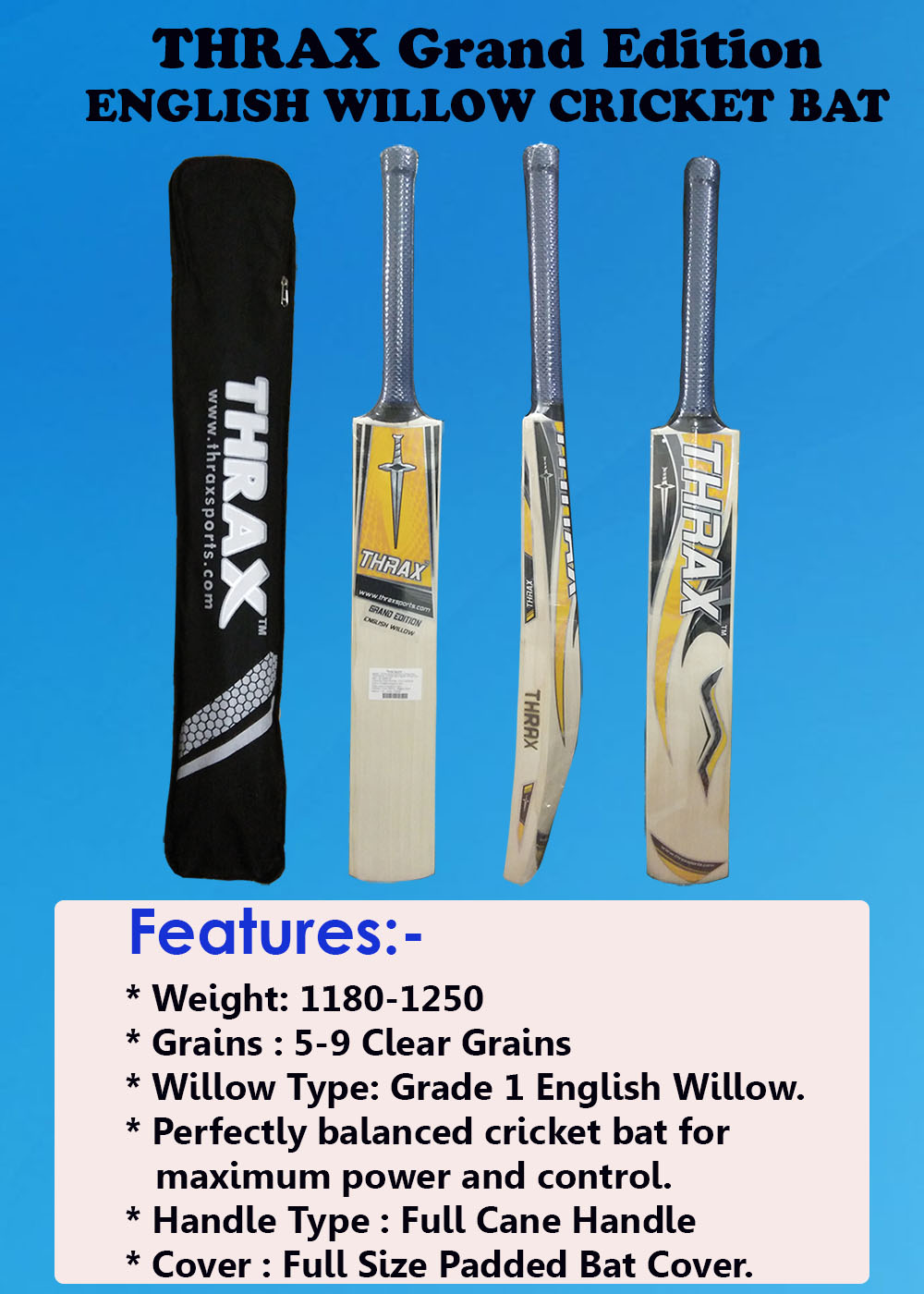 THRAX GRAND EDITION CRICKET BAT