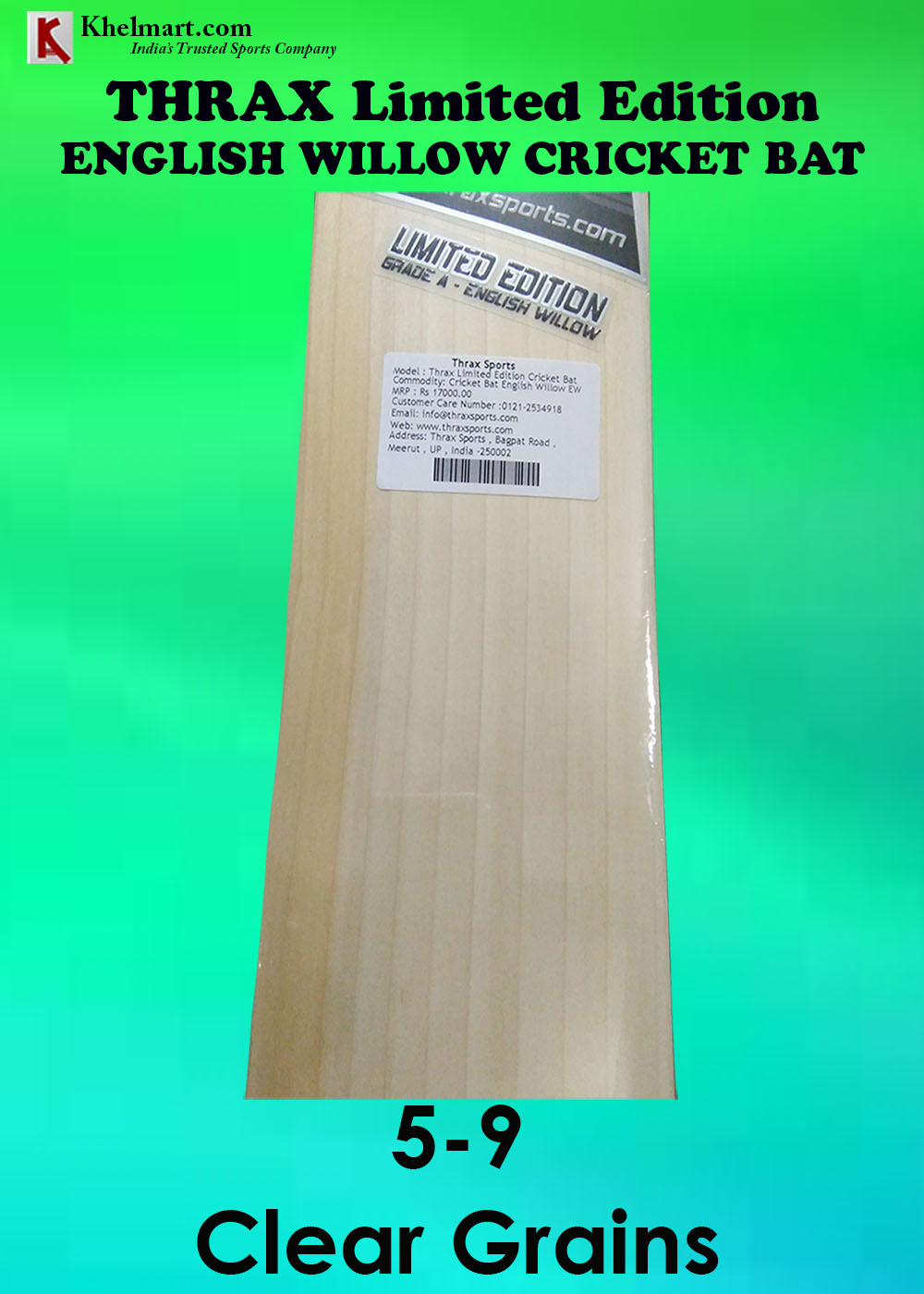 THRAX LIMITED EDITION CRICKET BAT GRAINS