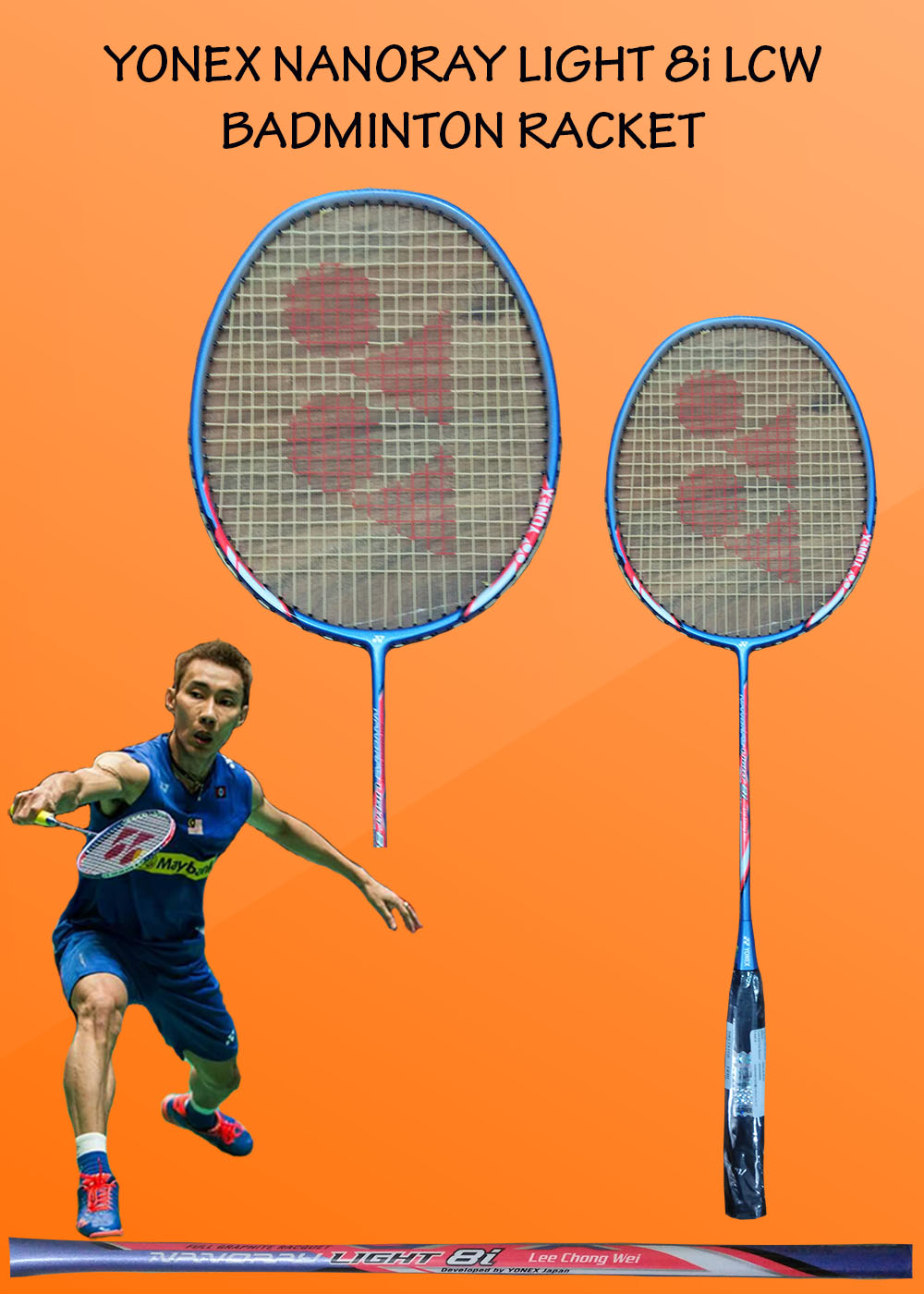 Yonex Nanoray Light 8i LCW Badminton Racket