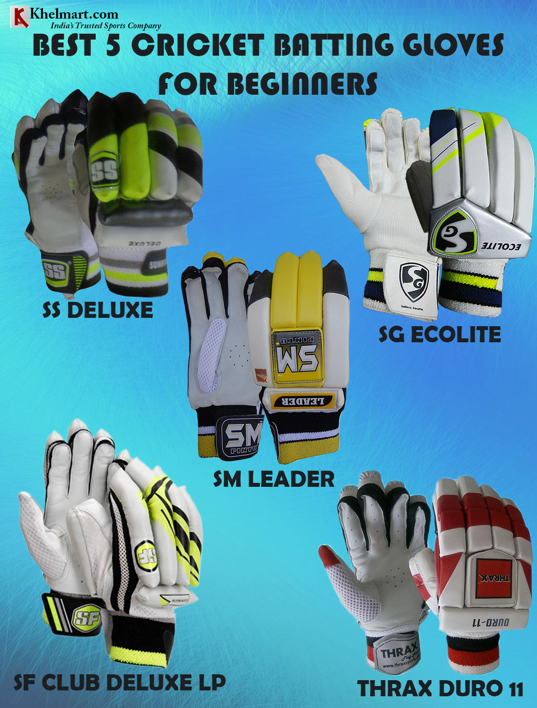 BEST 5 CRICKET BATTING GLOVES FOR BEGINNERS _1