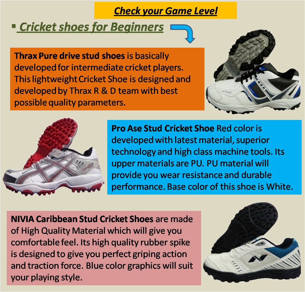 Cricket shoes for Beginners 2