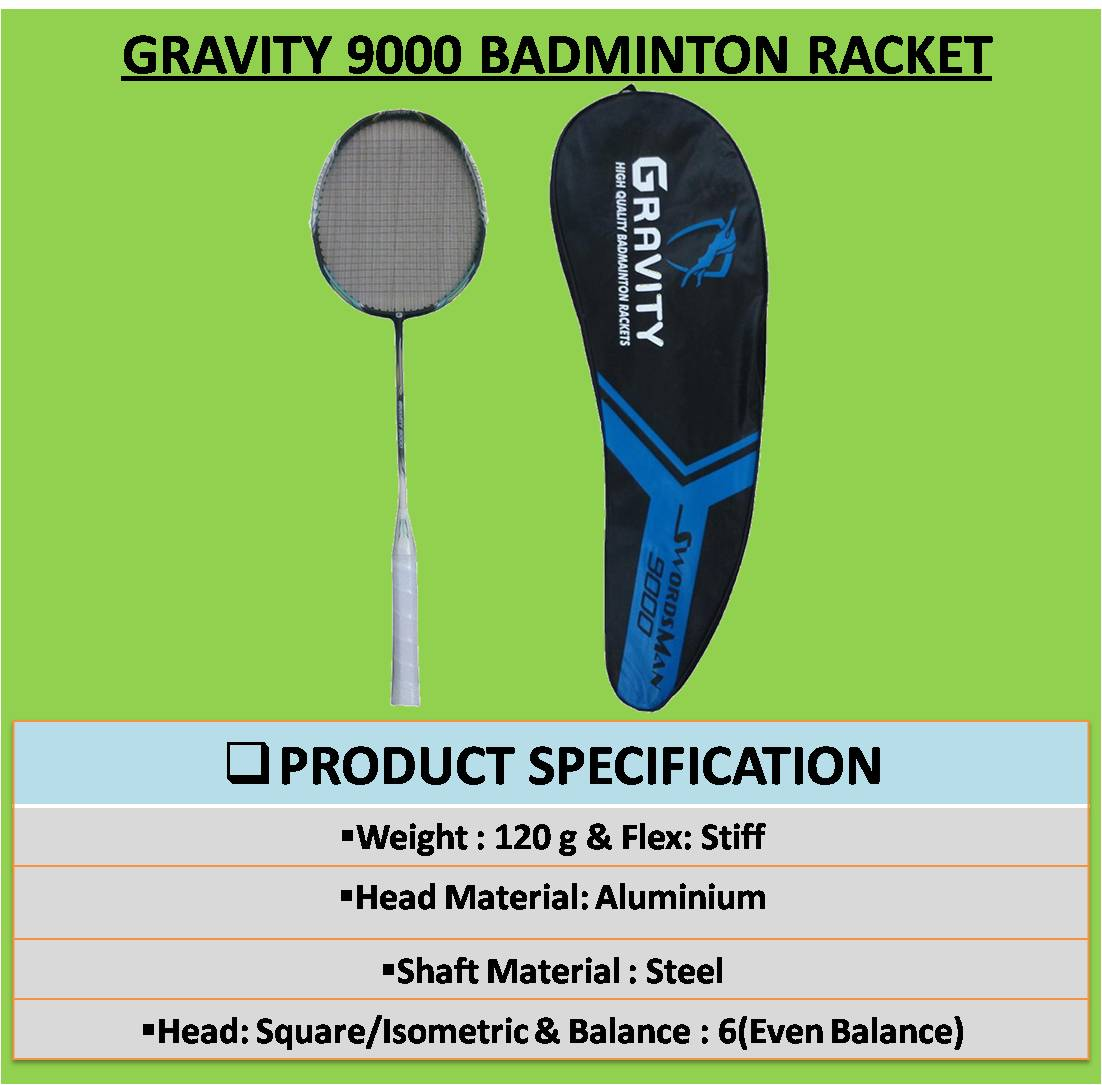 GRAVITY 9000 BADMINTON RACKET