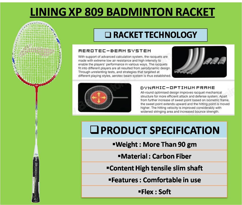 LINING XP 809 BADMINTON RACKET